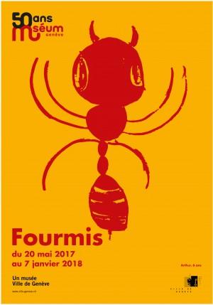 affiche de l'exposition fourmis