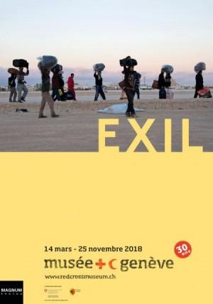Affiche de EXIL, visite commentée en LSF
