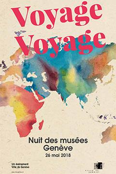 Affiche de Nuit des musées Genève