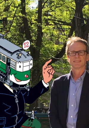 photo de henri Roth et dessin d'un tram