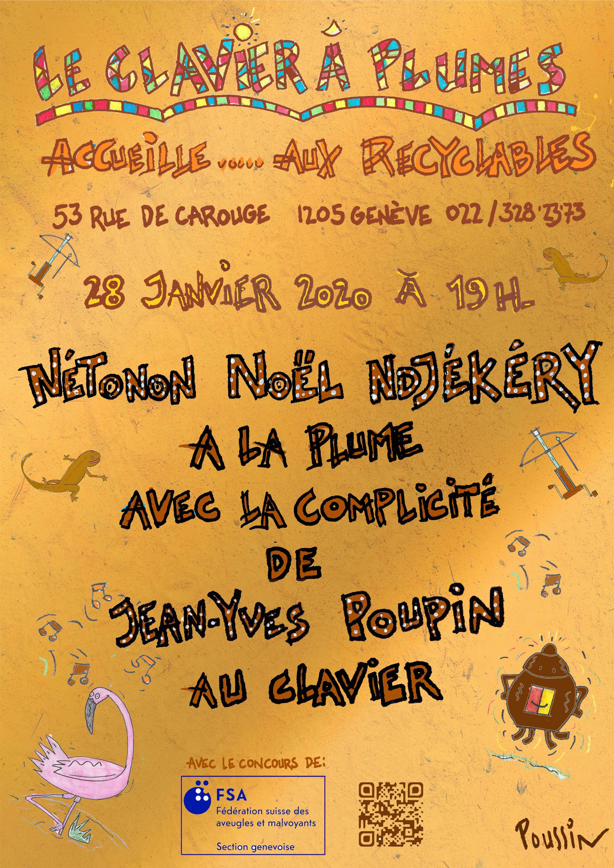 Affiche de la rencontre avec Nétono Noël Ndjékéry
