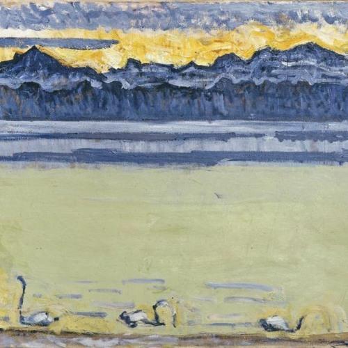Affiche de Le lac Léman et le Mont-Blanc avec cygnes de Ferdinand Hodler