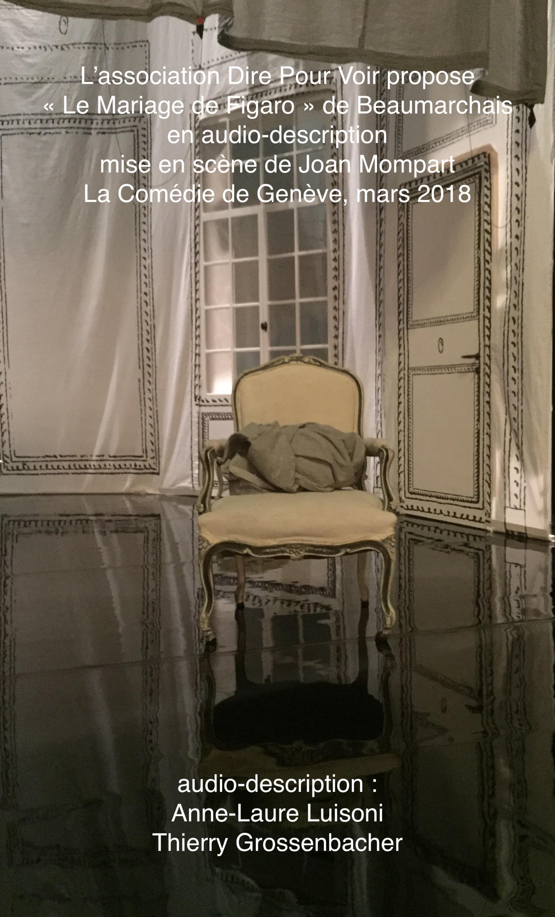Affiche de Le Mariage de Figaro de Beaumarchais