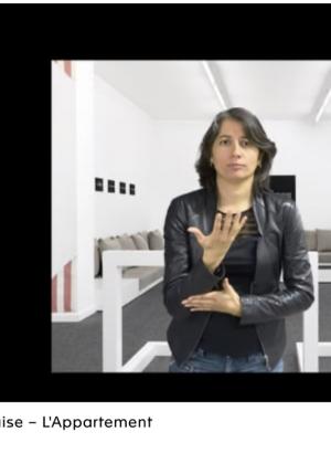 Affiche de Contenus vidéos en LSF